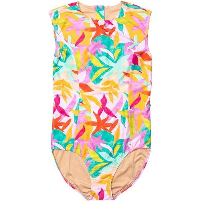 Women's Michaela Sleeveless One Piece Swimsuit, Brushed Flora - One Pieces - 1