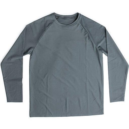 Porter Mens Long Sleeve Rash Guard, Charcoal