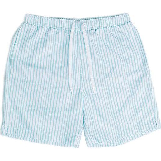 Hudson Mens Boardshort, Sea Glass Stripe