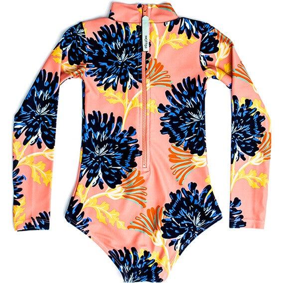 Mini Kelly Girls LS One Piece Swimsuit, Coastal Bloom