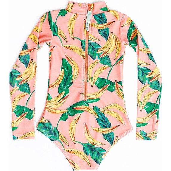Mini Kelly Girls LS One Piece Swimsuit, Banana Palm