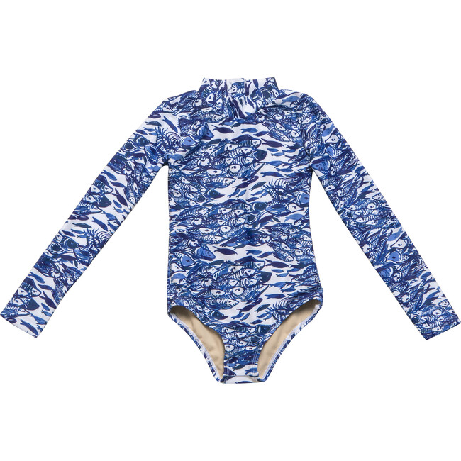 Mini Kelly Long Sleeve One Piece, Nazare Wave - One Pieces - 1