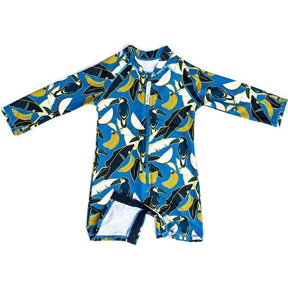 Mini Taylor Baby LS Sunsuit, Tropical Oasis