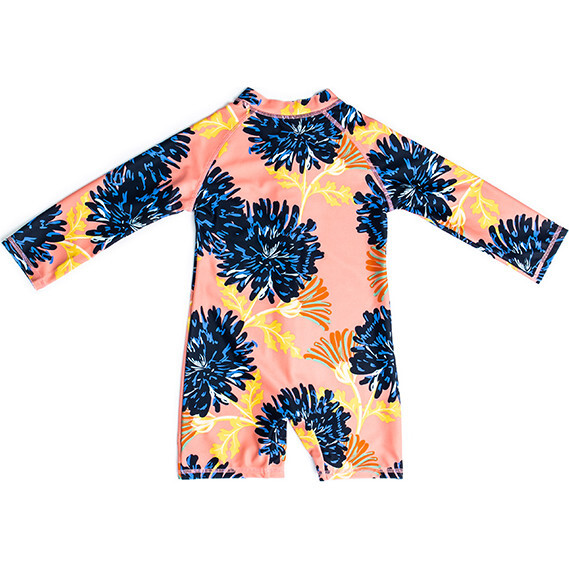 Mini Taylor Baby LS Sunsuit, Coastal Bloom