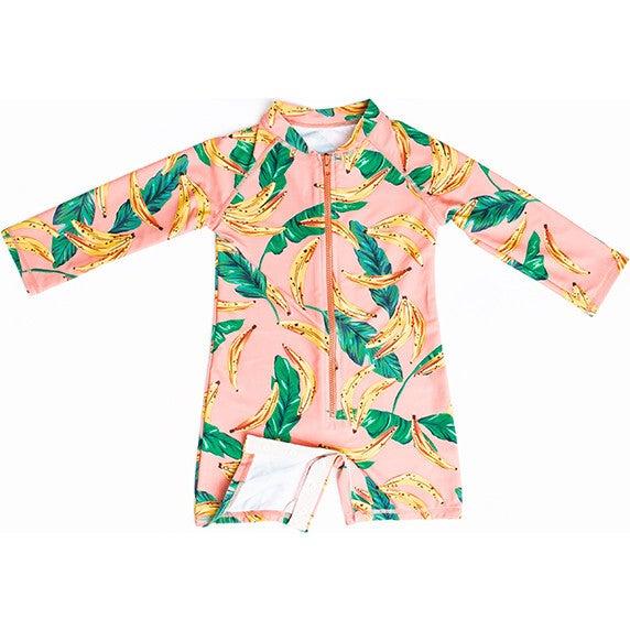 Mini Taylor Baby LS Sunsuit, Banana Palm