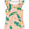 Mini Eve Girls Ruffle Swim Top, Banana Palm - Two Pieces - 1 - thumbnail