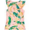 Mini Eve Girls Ruffle Swim Top, Banana Palm - Two Pieces - 2