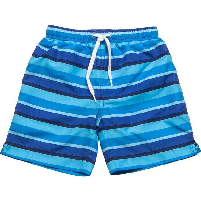 Mini Major Boardshort, Blue Stripe