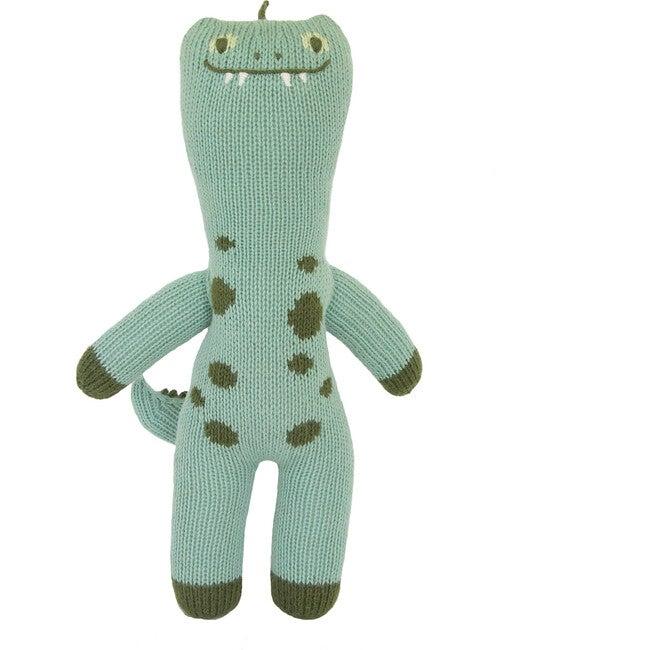 Mini Iggy the Dinosaur Knit Doll, Teal