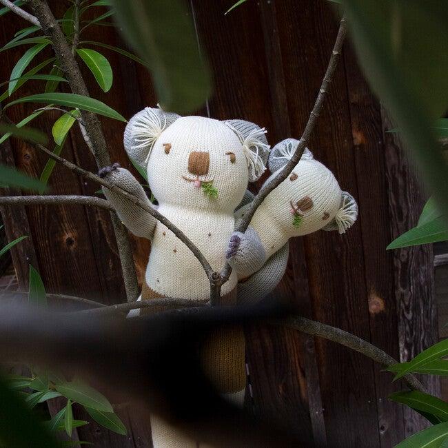 Mini Koa the Koala Knit Doll, White/Grey