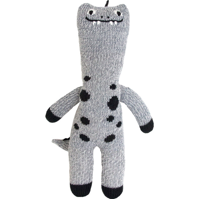 Mini Maximus the Dinosaur Knit Doll, Grey