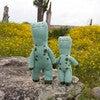 Mini Iggy the Dinosaur Knit Doll, Teal - Dolls - 2