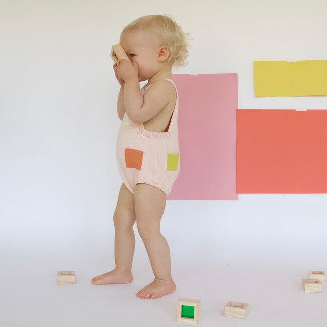 Mondrian Romper, Pink