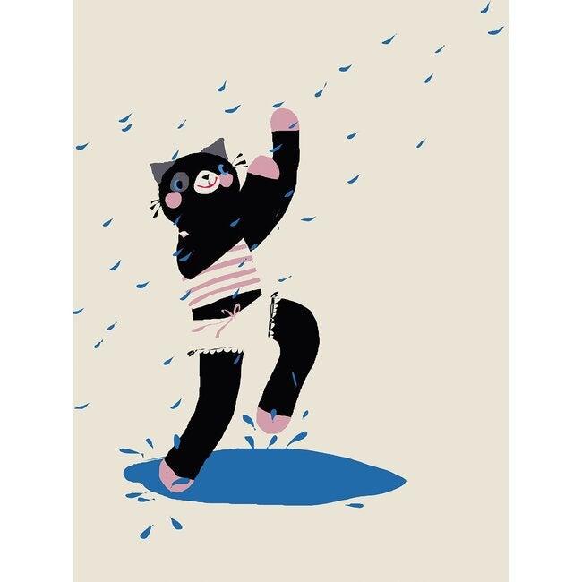 Perchance the Cat Art Print, Multi
