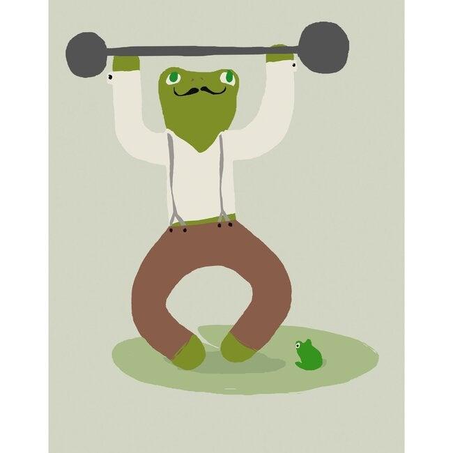 Luigi the Strongman Art Print, Green