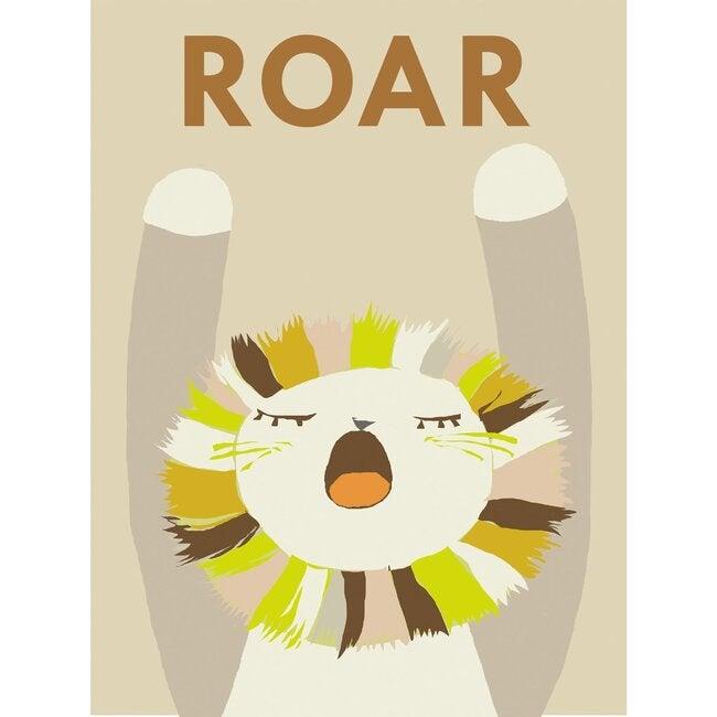 Roar Lionel Art Print, Neutral - Art - 1