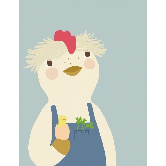 Benedict the Chicken Art Print, Multi