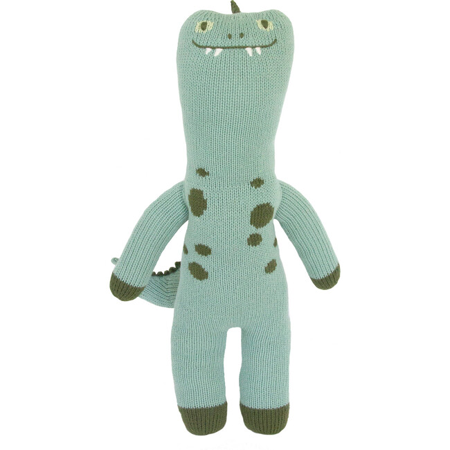 Iggy the Dinosaur Knit Doll, Teal - Dolls - 1