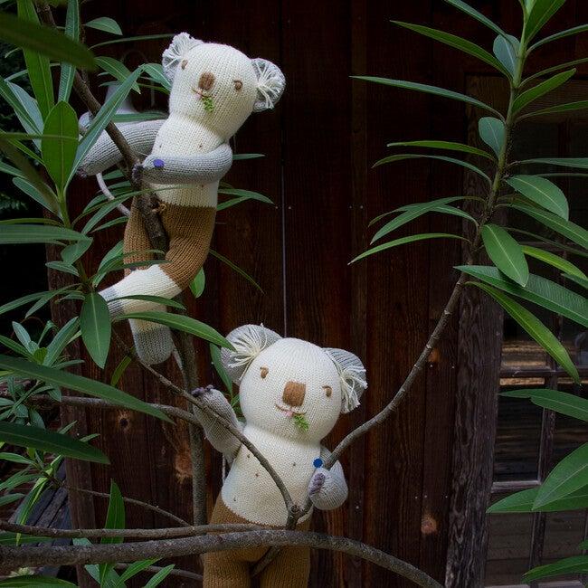 Koa the Koala Knit Doll, White/Grey
