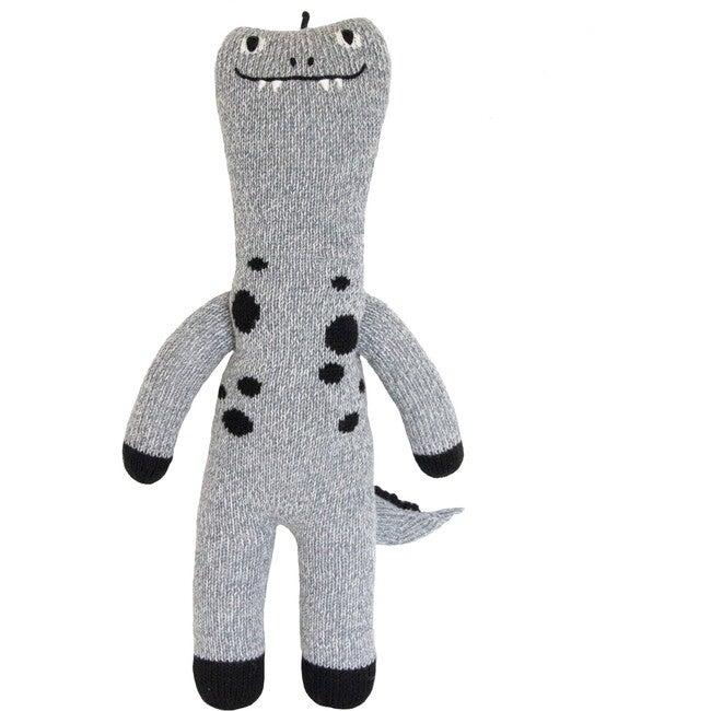 Maximus the Dinosaur Knit Doll, Grey