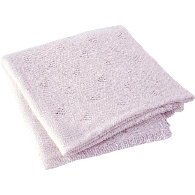 Little Triangle Receiving Blanket, Petal