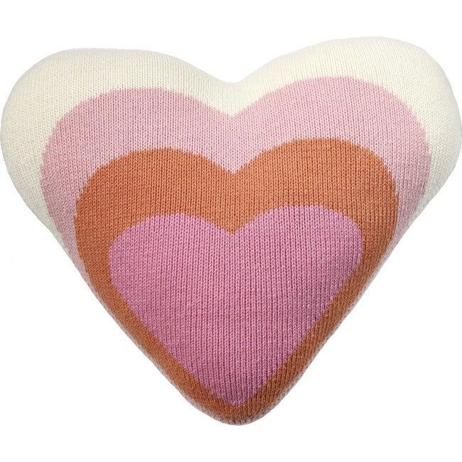 Heart Pillow, Pink Multi