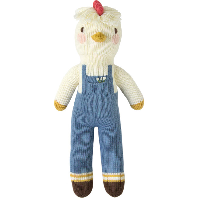 Benedict the Chicken Knit Doll