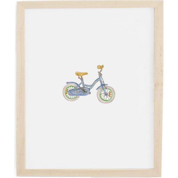 Bike Art Print, Natural Frame