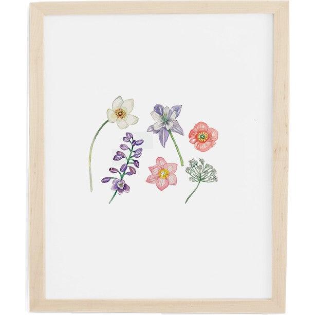 Wildflowers Art Print, Natural Frame