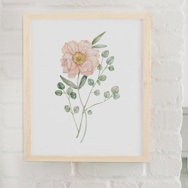 Floral Burst #2 Art Print, Natrual Frame