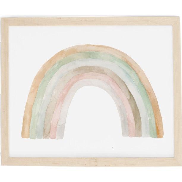 Rainbow Art Print, Natural Frame