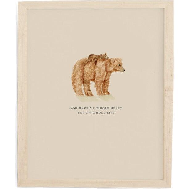Mama Bear Art Print, Natural Frame