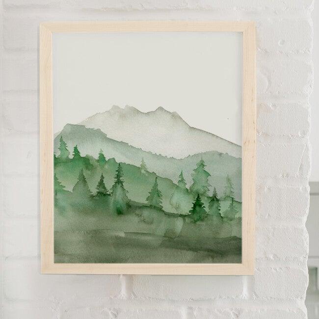Green Mountain Art Print, Unframed