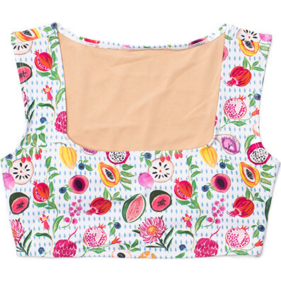 Women's Clementine Square Neck Swim Top, Fresco Crush
