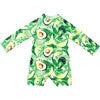 Mini Taylor Baby LS Sunsuit, Avocado print - One Pieces - 1 - thumbnail