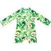 Mini Taylor Baby LS Sunsuit, Avocado print - One Pieces - 3