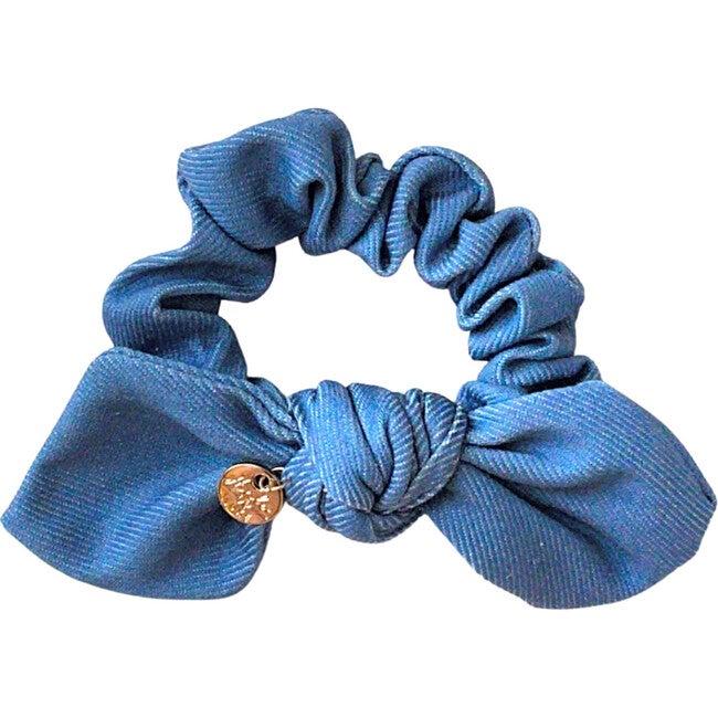 Pouf Denim Scrunchie, Light Blue Denim