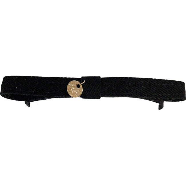 Maddy Twill Bow Headband, Black
