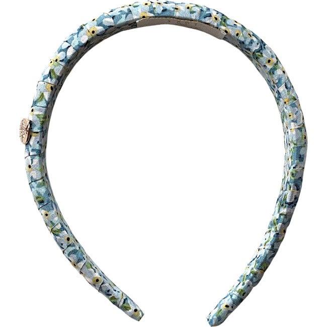 Lily Floral Print Headband, Blue Print