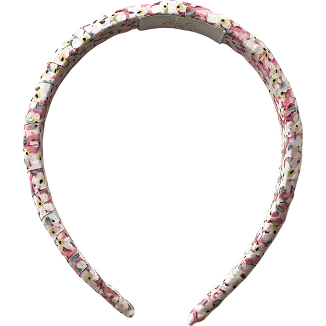 Lily Floral Print Headband, Rose Print