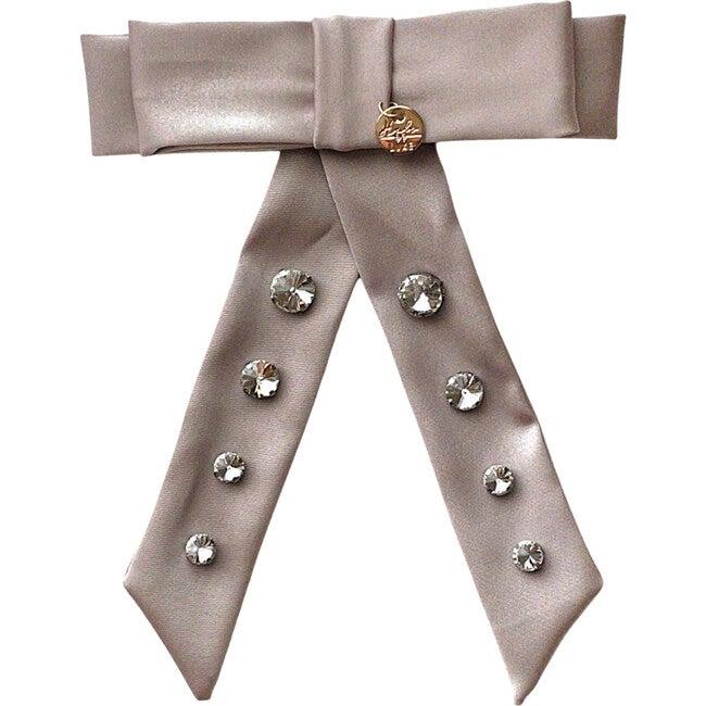 Isabella Embellished Bow Clip, Champagne
