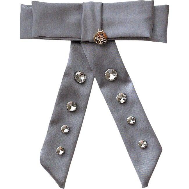 Isabella Embellished Bow Clip, Cloud