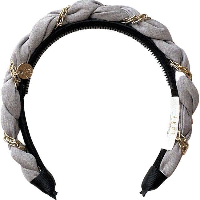 Evelyn Twisted Link Headband, Cloud