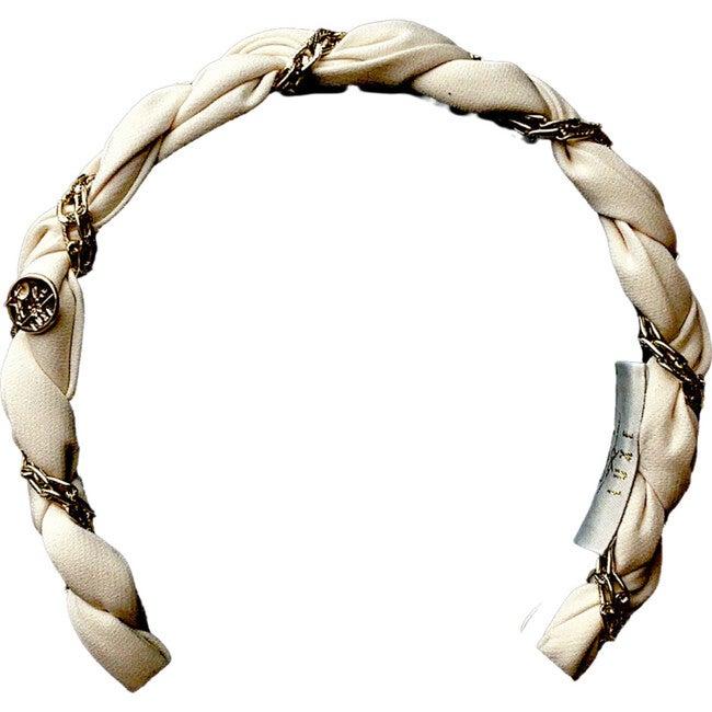 Evelyn Twisted Link Headband, Ecru
