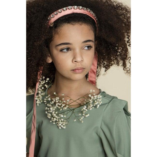 Isabella Embellished Tie Back Headband, Coral