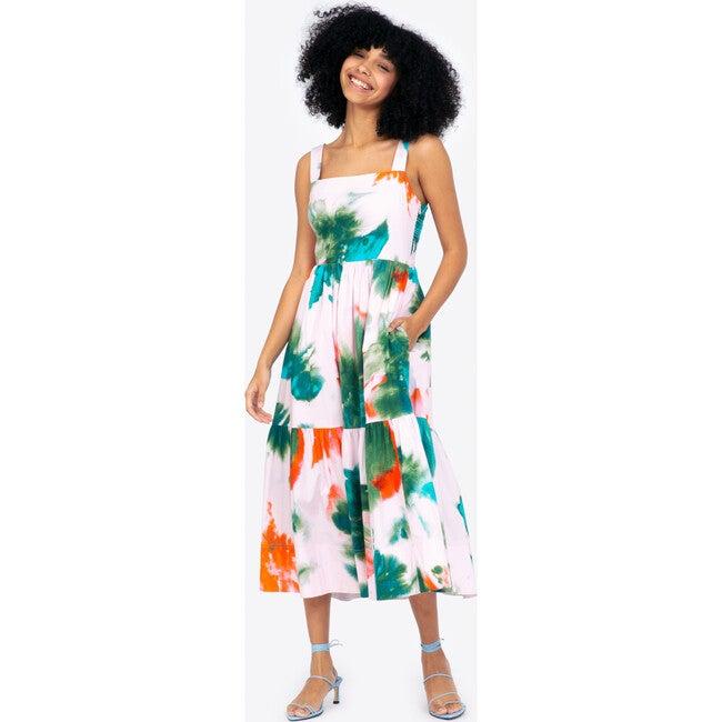 Women's Gia Dress, Pigment Splash Hyacinth