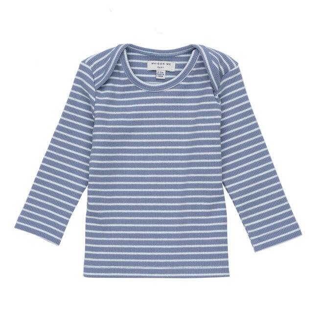 Andie Long Sleeve Tee, Blue & Light Blue Stripe