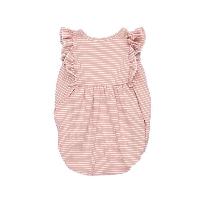 Vanessa Bubble Romper, Pink Stripe