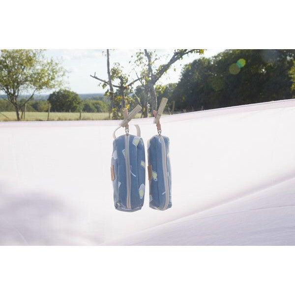 Pencil Pouch, Blue Cans