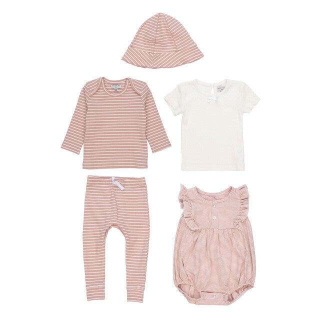 5 Piece Baby Set, Pink